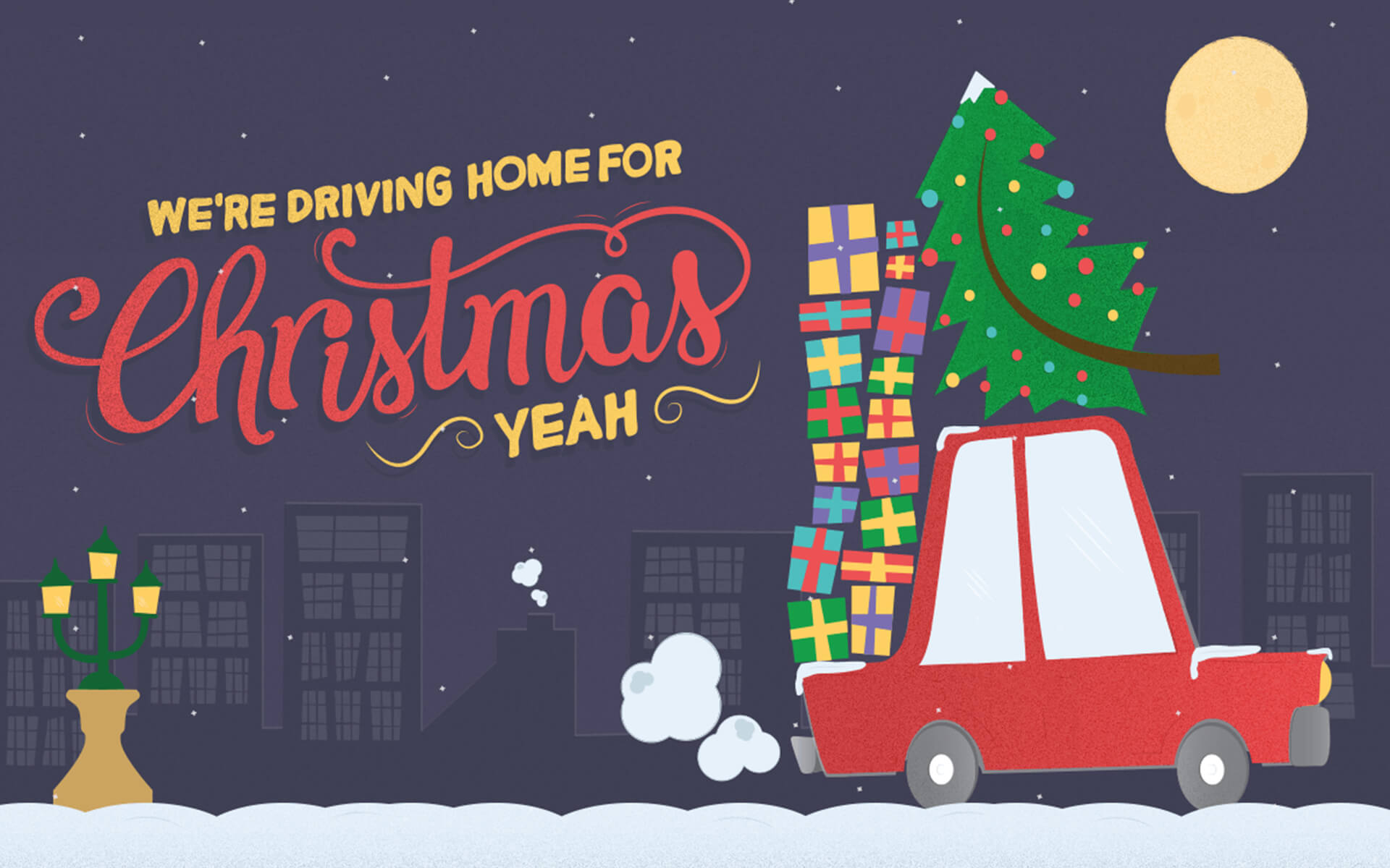 Coming Home For Christmas 2019.Driving Home For Christmas Design Agency Newcastle Cargo