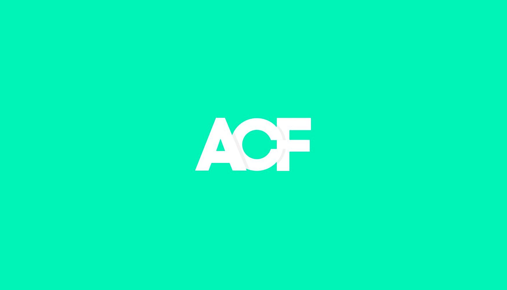 White Advanced Custom Fields Logo on bright green background